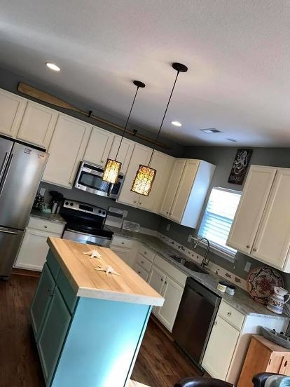 Dixie Belle Paint Vs Gel Stains | Painted kitchen island ...