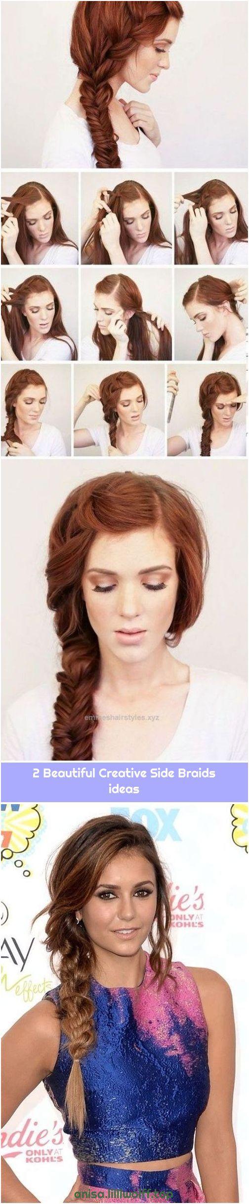 2 Beautiful Creative Side Braids ideas #sidebraidhairstyles