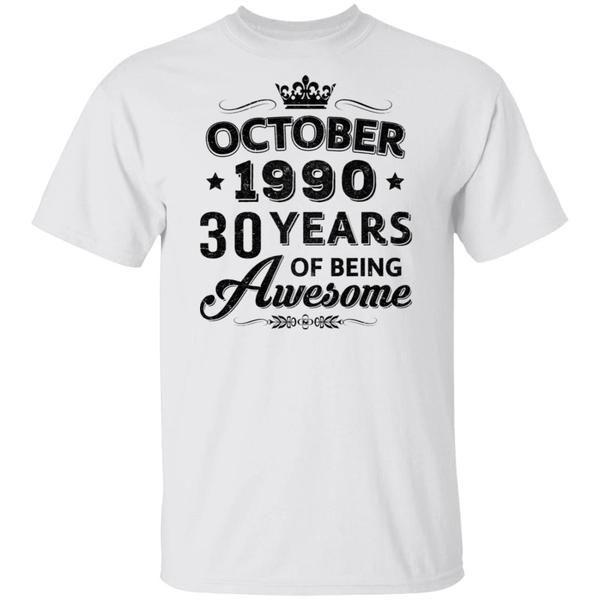 Vintage 1990 October 30Th B… T-Shirt Hoodie #1990Shirt 1990 Shirts #30YearsOld…