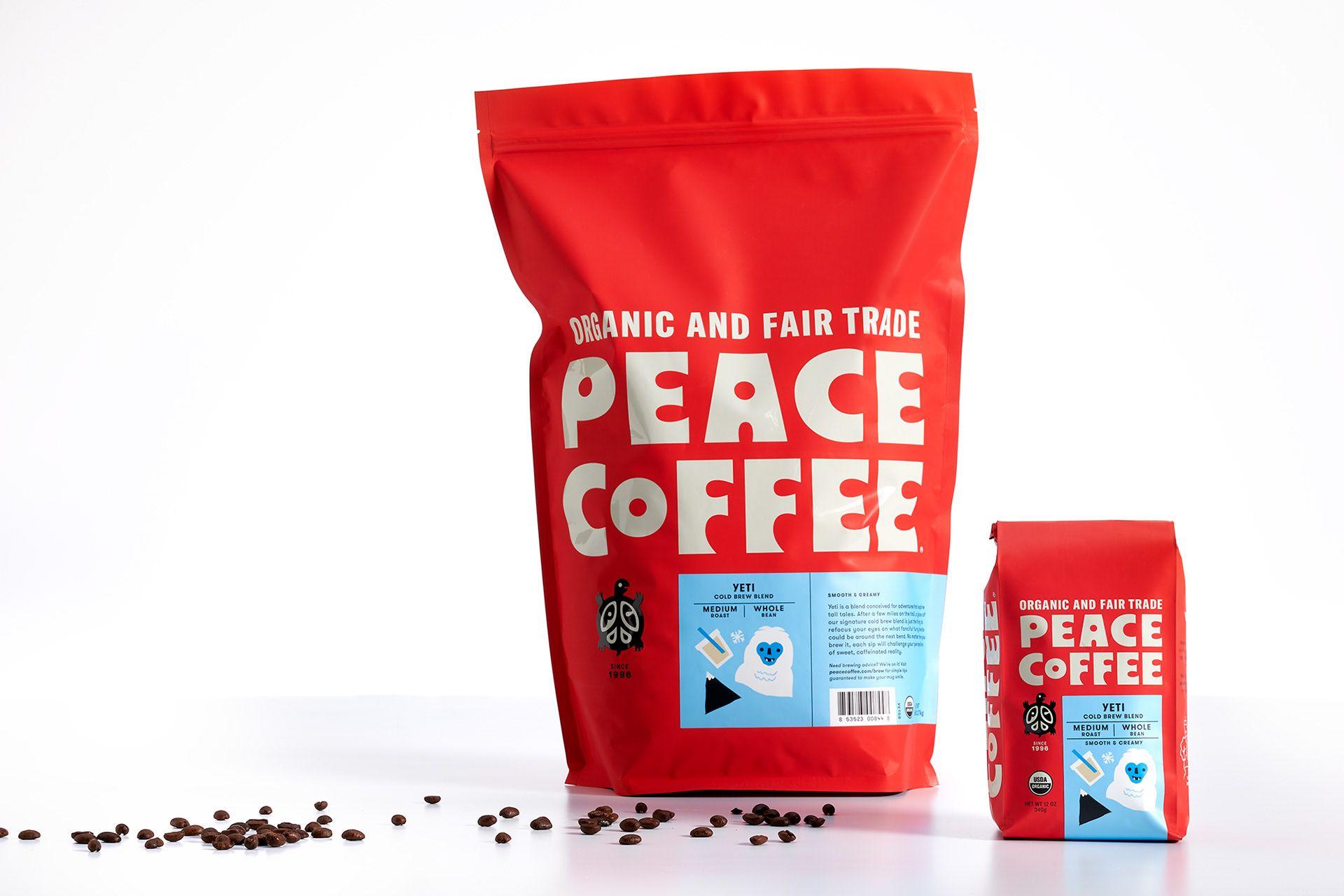 Best Of Behance In 2020 Peace Coffee Organic Fair Trade Coffee Creative Packaging Design