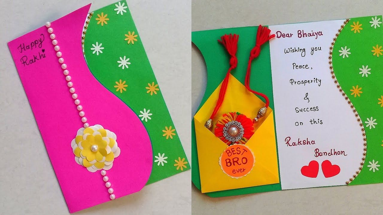 Beautiful Handmade Rakhi Card How To Make Raksha Bandhan Card