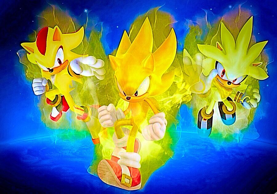 Super Sonic Shadow And Silver Epic Pic Super Shadow Silver The Hedgehog Shadow The Hedgehog