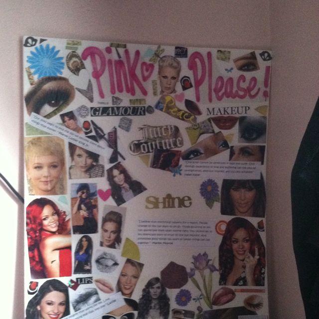diy poster board collage b e d r o o m pinterest diy collage
