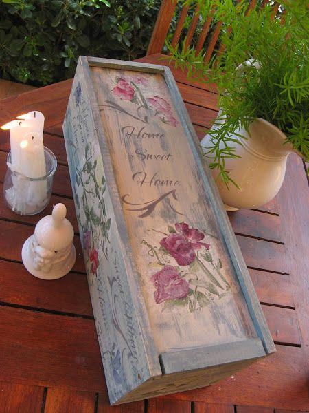 Preciosas ideas para decorar cajas de madera Azul Cajas y Cajas
