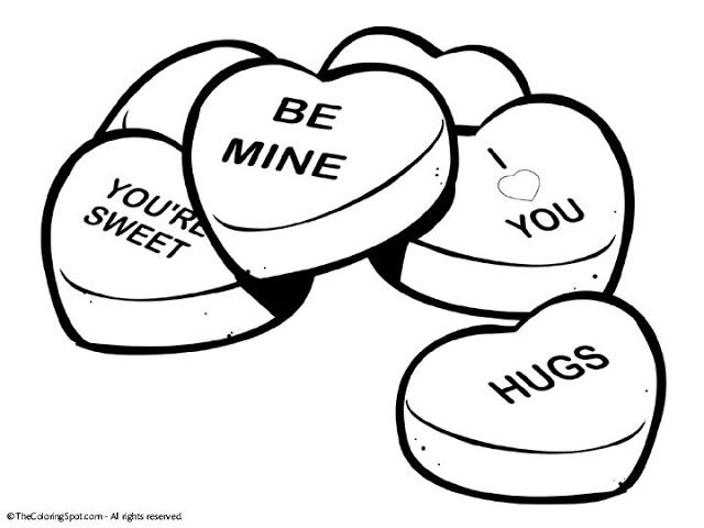 Coloring pages for adults love conversation heart printable clip art and coloring pages