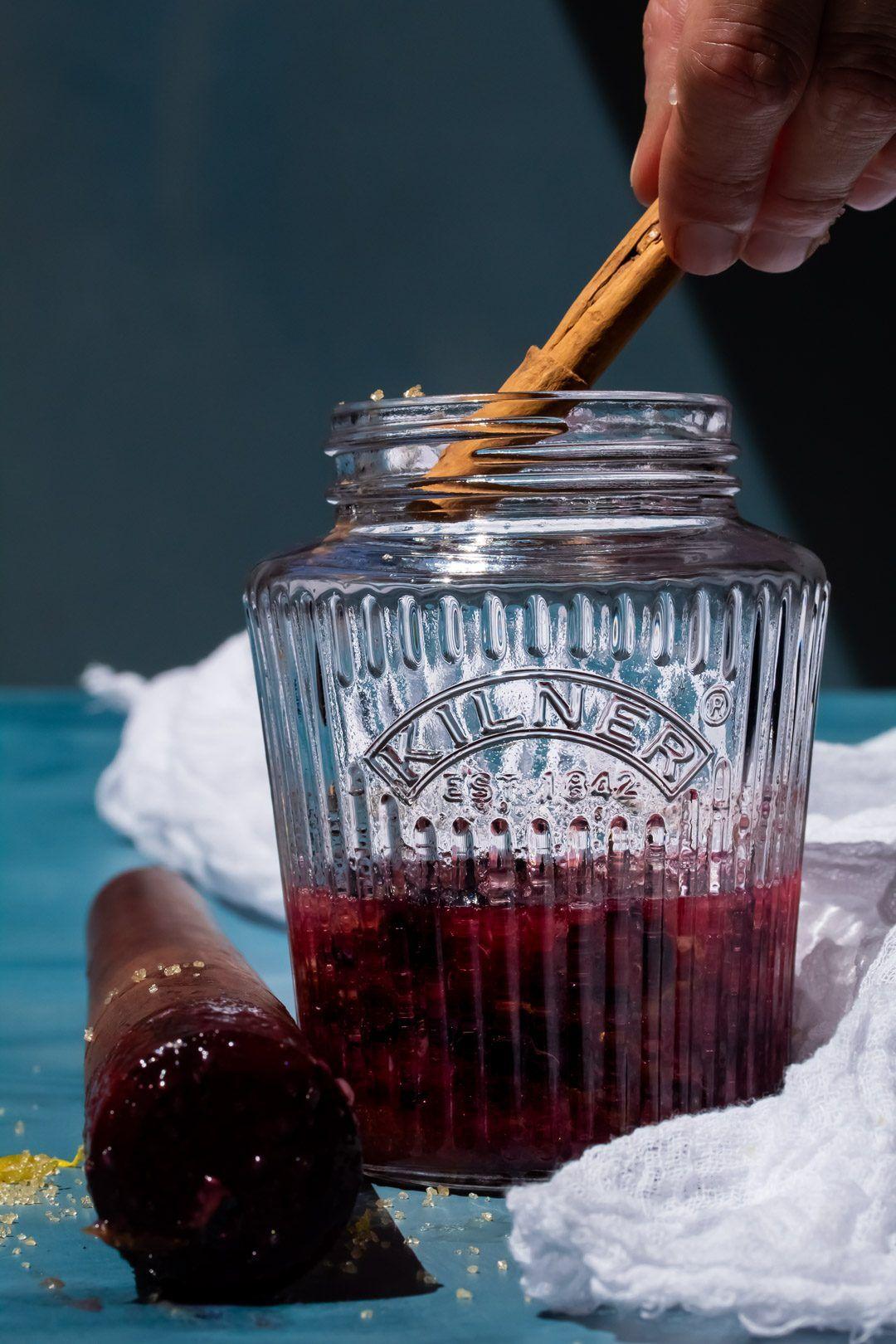 Blueberry shrub syrup thyme lemon spice recipe