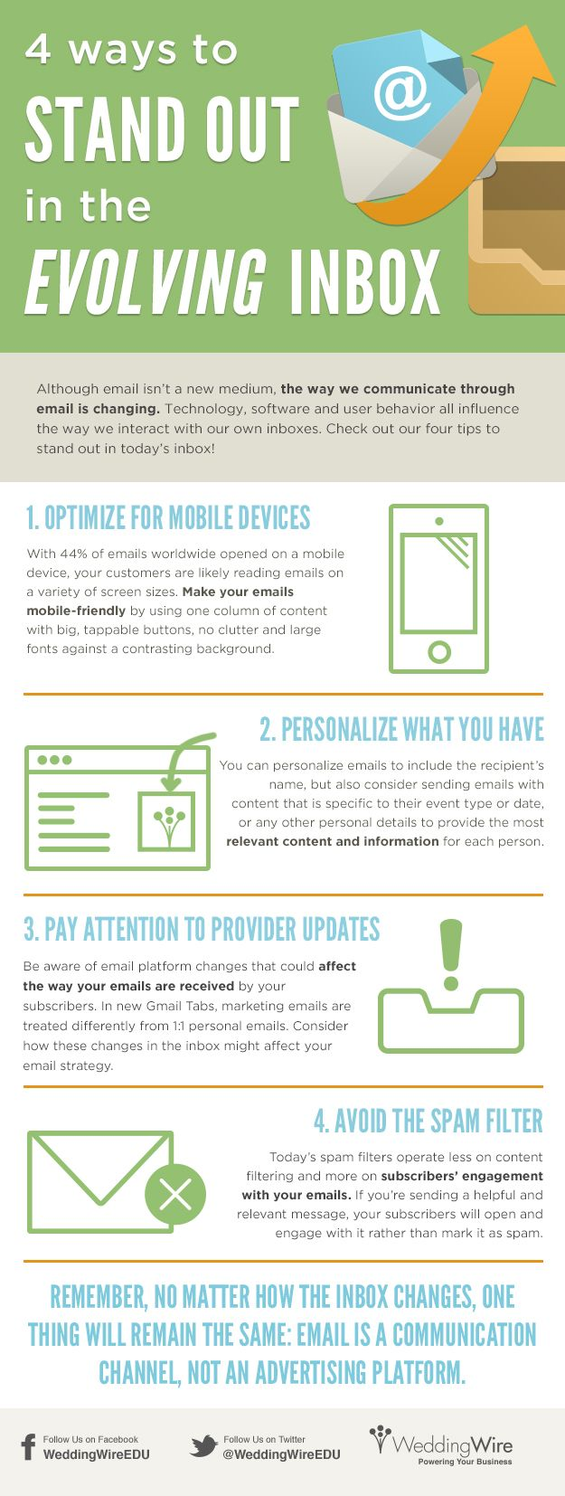 4 Ways to Stand Out in the Evolving Inbox [#Infographic] - WeddingWire EDU Blog