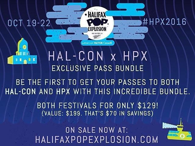 Apparently buying wristbands in bulk is a thing. Stock up for fall?! @halifaxpopx x @halcon_scificon x  Big news! Be the first to buy your HPX and @halcon_scificon passes with this limited-time bundle! ON SALE NOW (until may 30th)  at halifaxpopexplosion.com