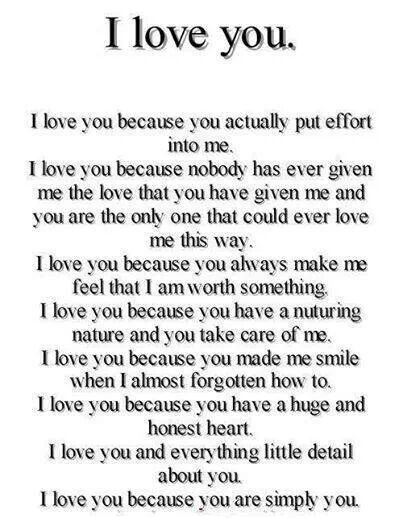 I Love You Because You Actually Put Effort Into Me Best Love Quotes Romantic Quotes Missing Quotes Be Yourself Quotes