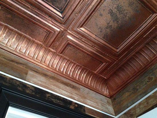 Stately Pillars Copper Cornice Nail Up Ec0600 Metal Ceiling Tiles Ceiling Tiles Decorative Ceiling Tile