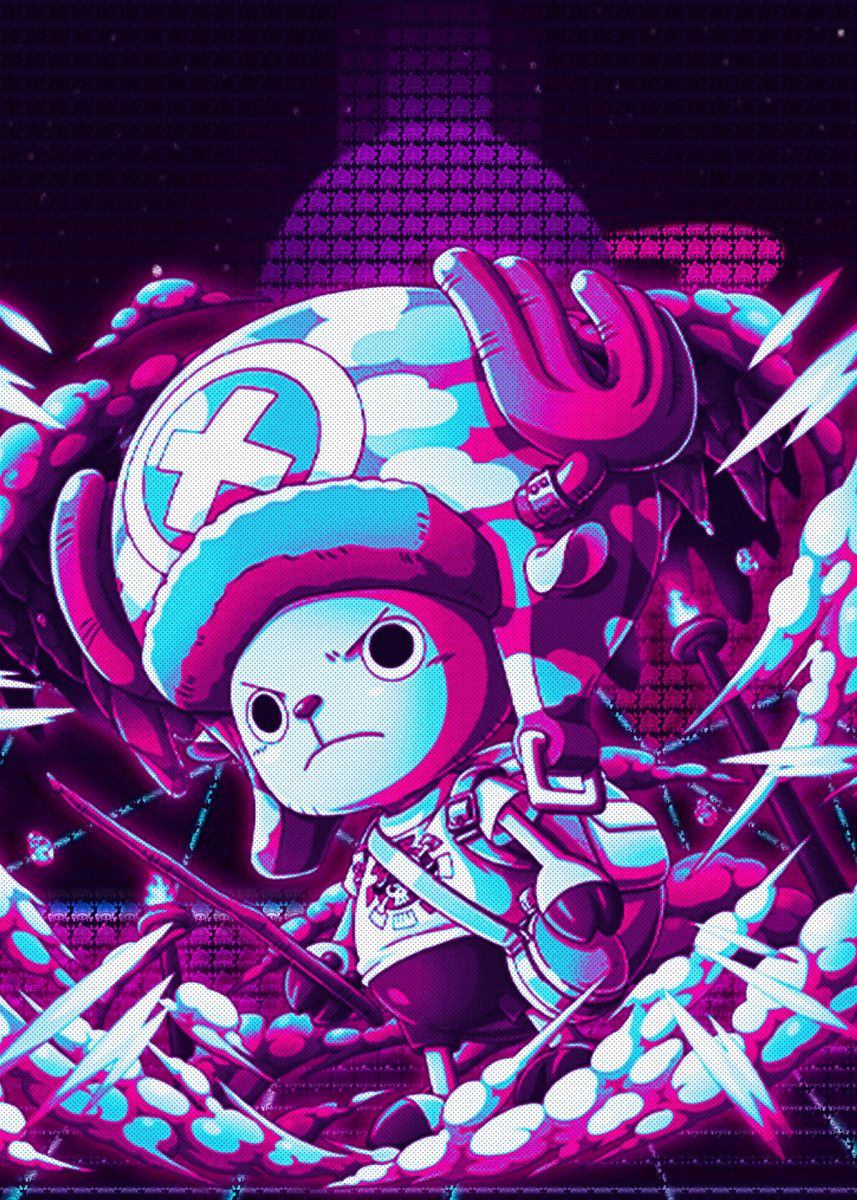 Tony Tony Chopper Poster By Introv Art Displate Manga Anime One Piece One Piece Wallpaper Iphone Poster Prints