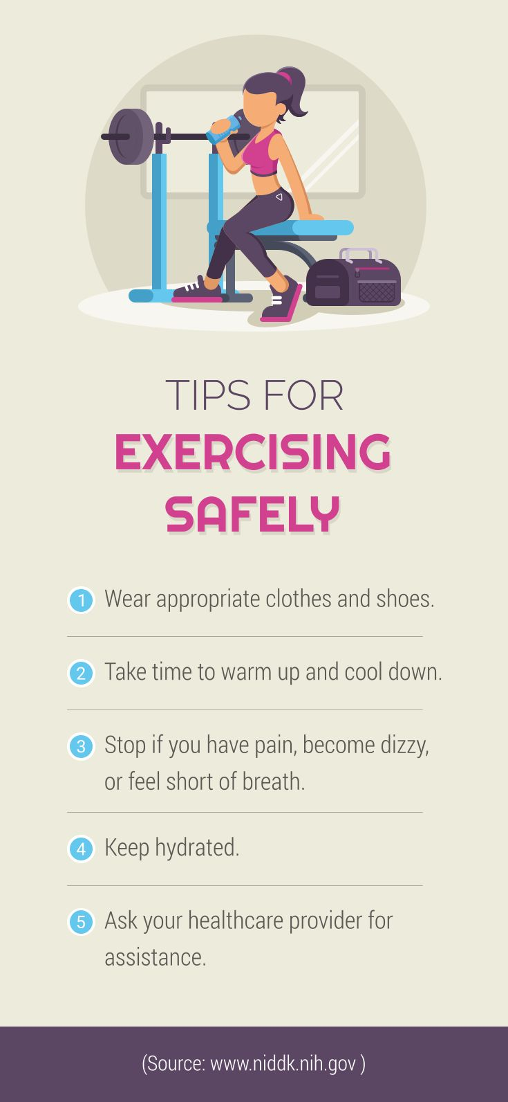 Tips for exercising safely exercise exercise