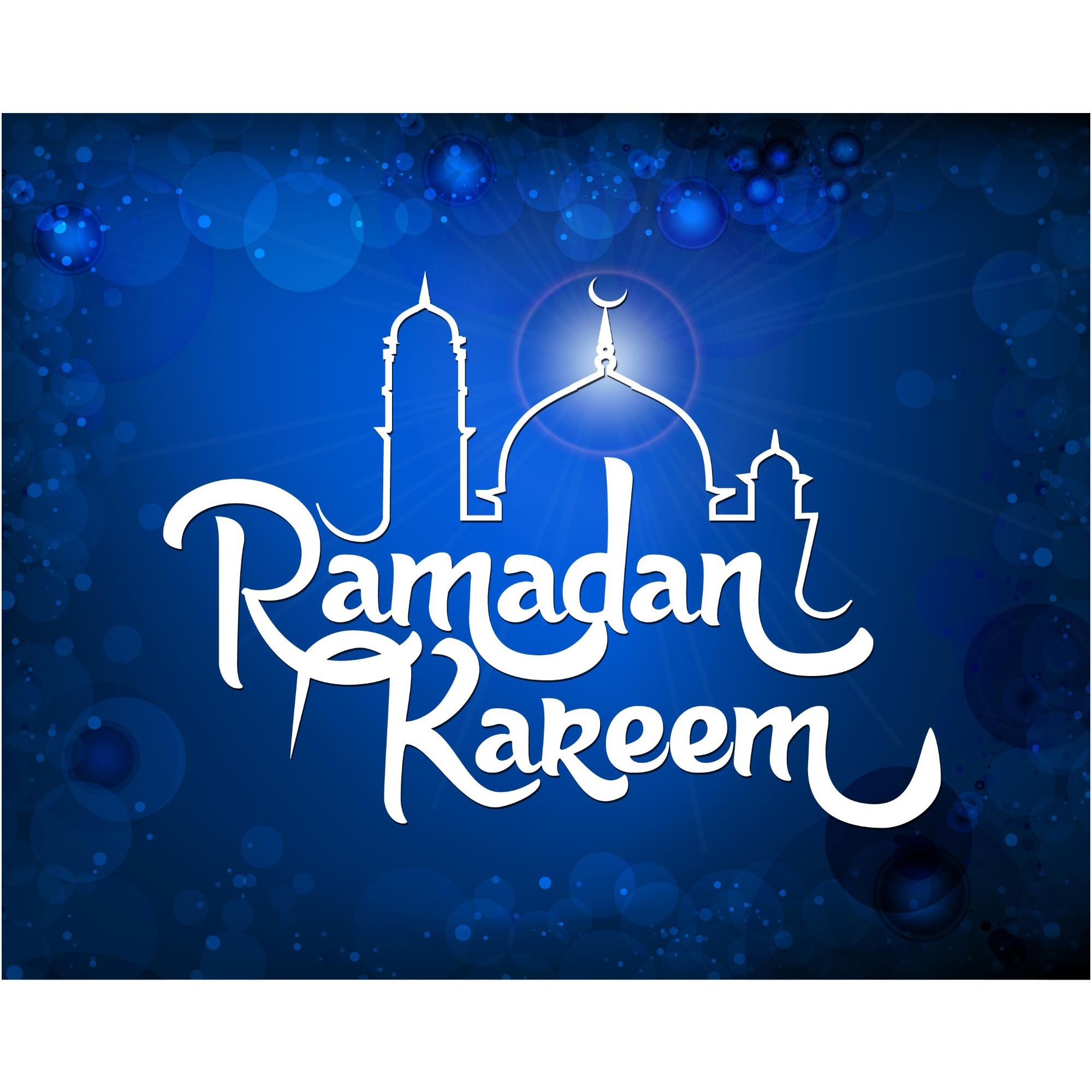 Vector Ramadan English Typography Background