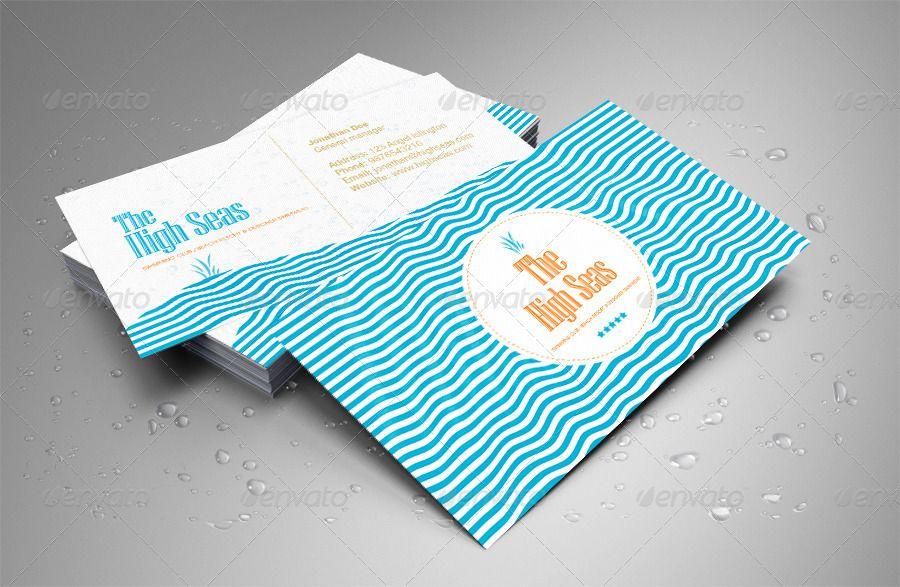 Hotel, Beach Resort, Swimming Club Business Card | hotel | Pinterest ...