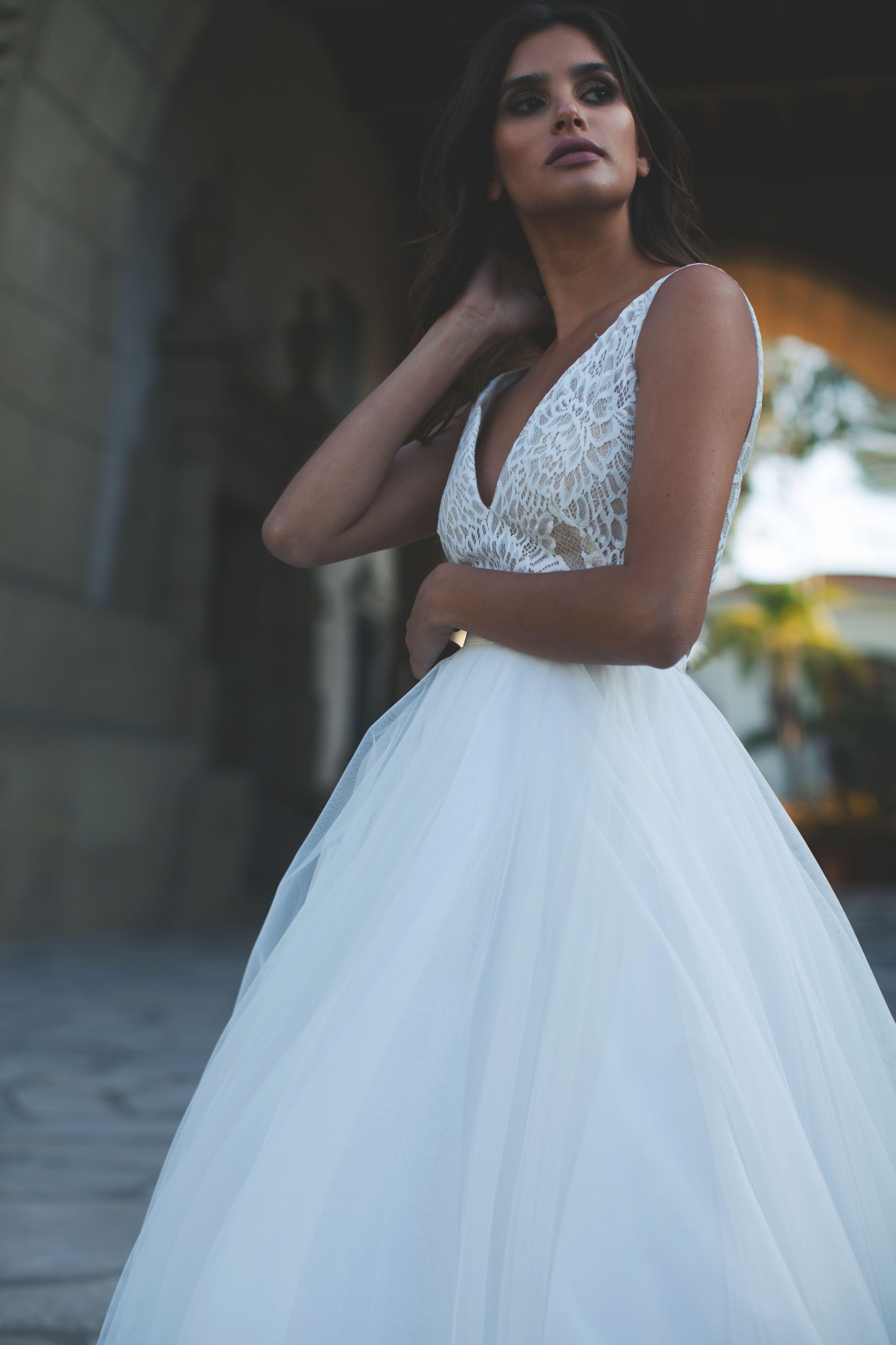 Luxury Taryn Wedding Dress Long Sleeve   Wedding
