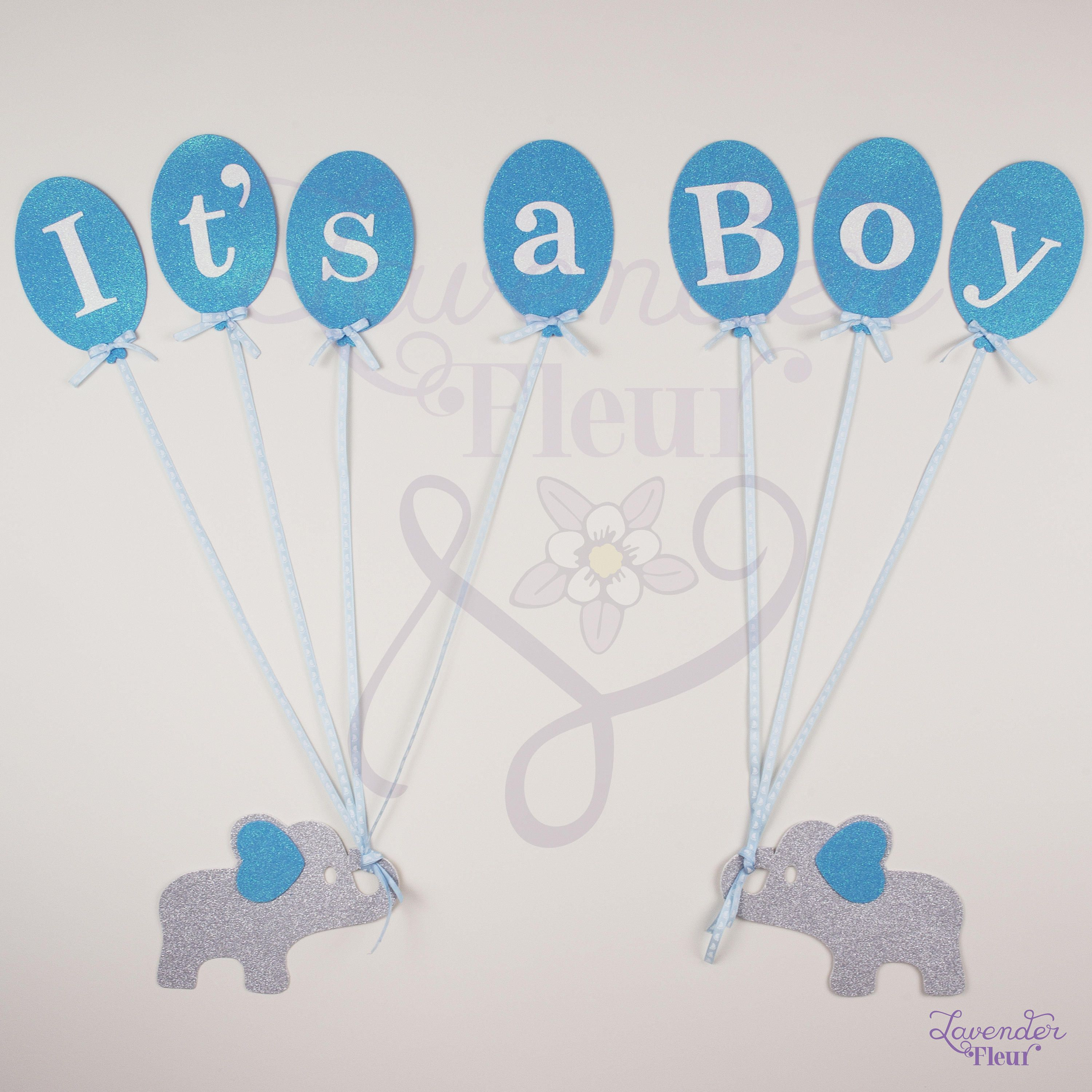 Elephant Boy Blue Welcome Baby Banner Little Peanut Shower Ribbon Decoration