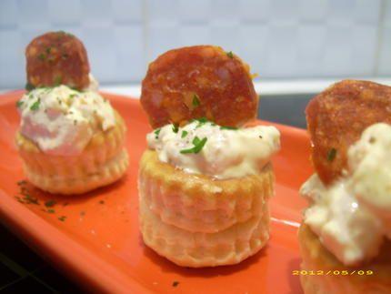 Bouchées aux crevettes et chorizo (apéro chic)