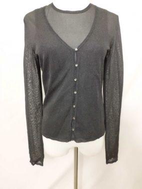 Armani Exchange Woman's Grey Sheer Blouse with Matching Cardigan Size Medium $99.99