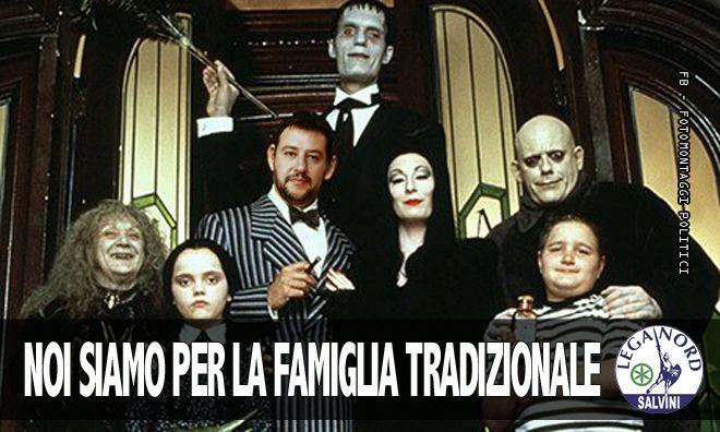 Salvini - Difende la famiglia tradizionale