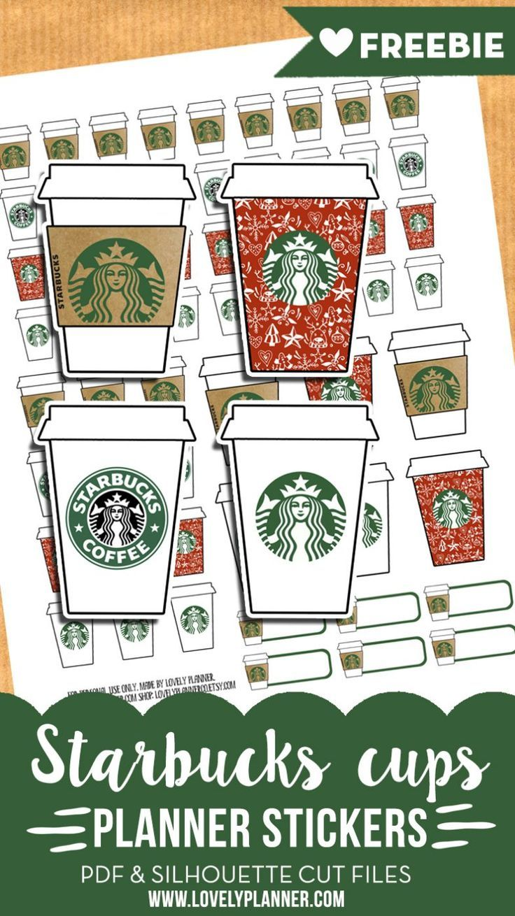 photo regarding Starbucks Printable Application called Starbucks cups stickers - Totally free planner printable Introduction