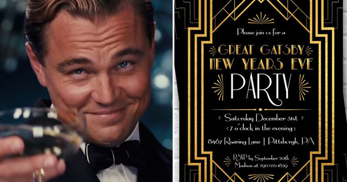 Throw A Great Gatsby Themed New Year S Eve Party With These 7 Tips New Year S Eve Party Themes Eve Parties New Years Eve Music