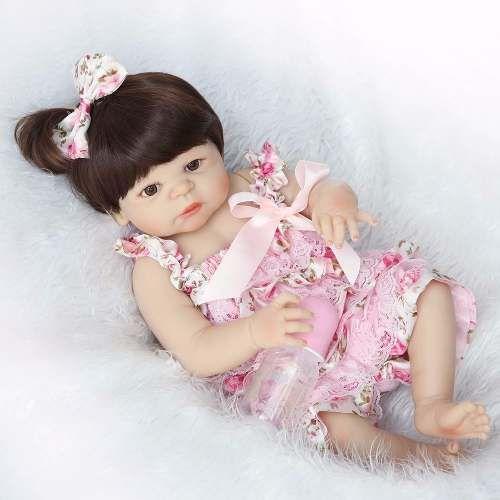 f87367aee5 Bebê Reborn Realista 55 Cm TODA Vinil e Silicone - Pronta Entrega bebê