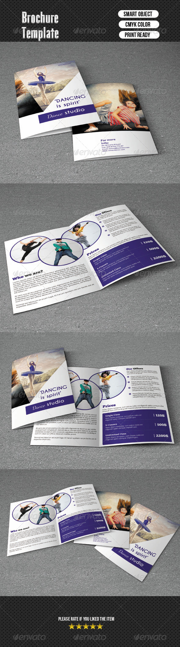 Bifold BrochureDance Studio  Dance Studio Brochures And