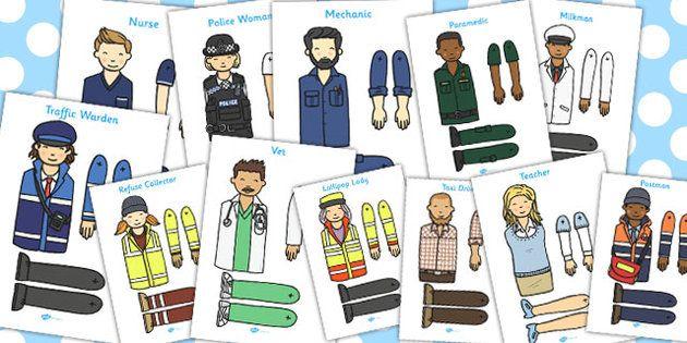 People Who Help Us Split Pin Characters - People who help us ...