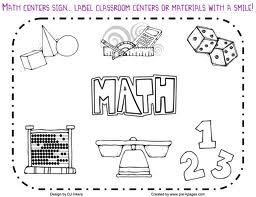 Math Center Sign With Images Math Signs Math Clipart Clip