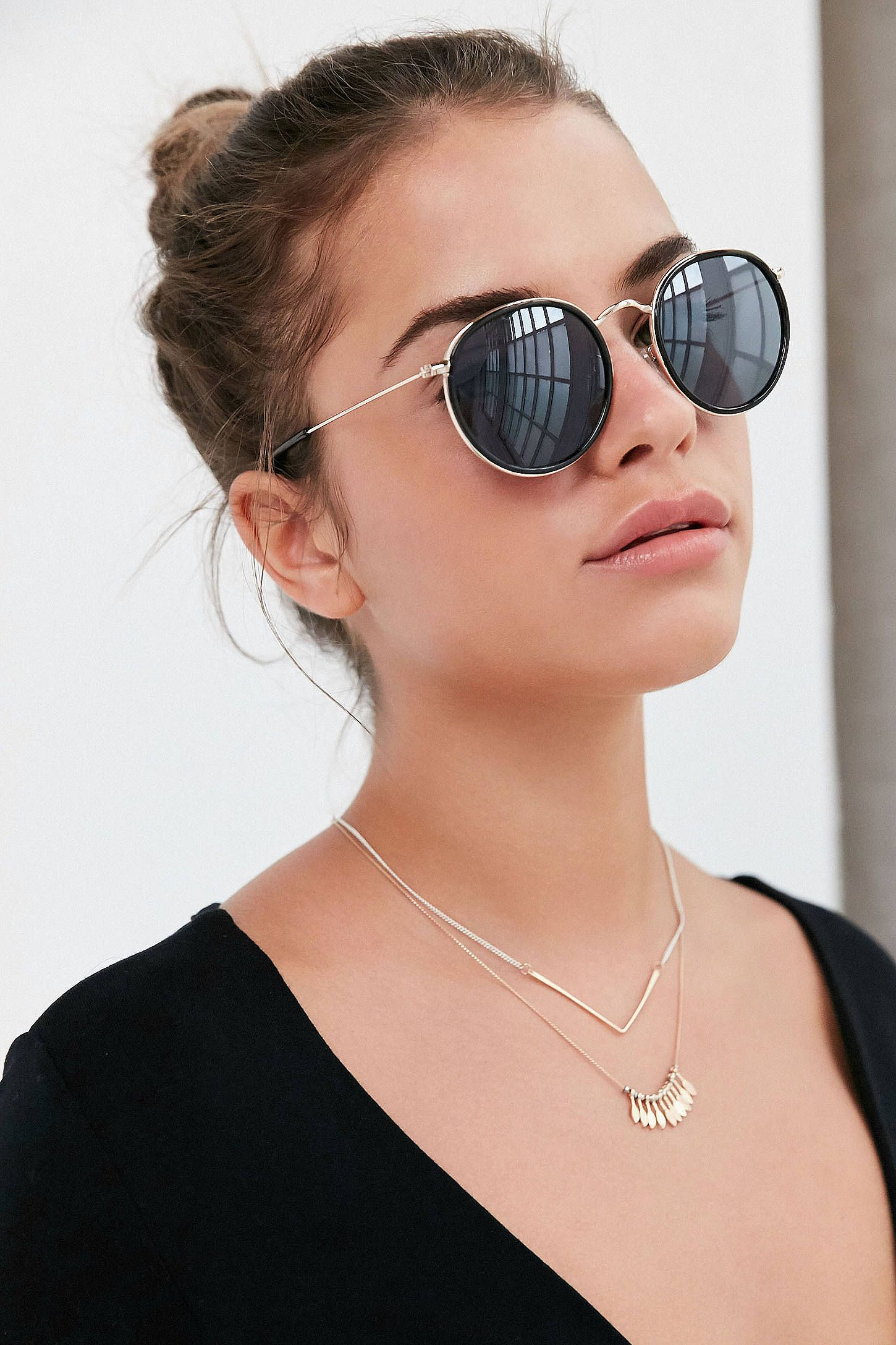 37f3c6db9e8b6 Shop the Charlie Metal Round Sunglasses and more Urban Outfitters at Urban  Outfitters. Read customer reviews