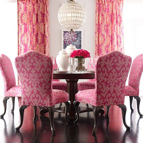 Tickled Pink Dining Room has attitude. Ethan Allen | Design : Dining ...