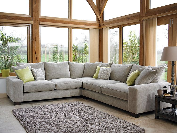 Holloways Grey Corner Sofa Cornersofa Living Room Furniture