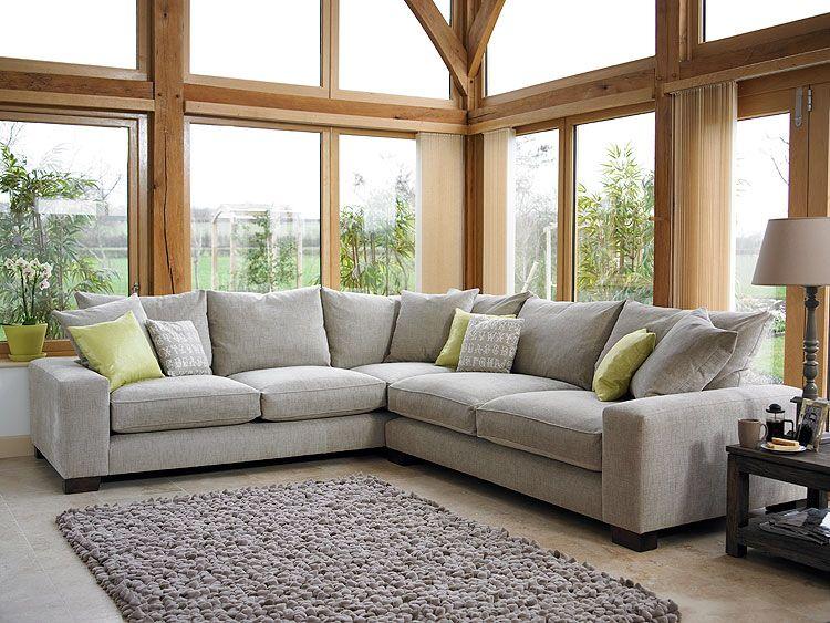 Holloways Grey Corner Sofa Corner Sofa Living Room Living Room