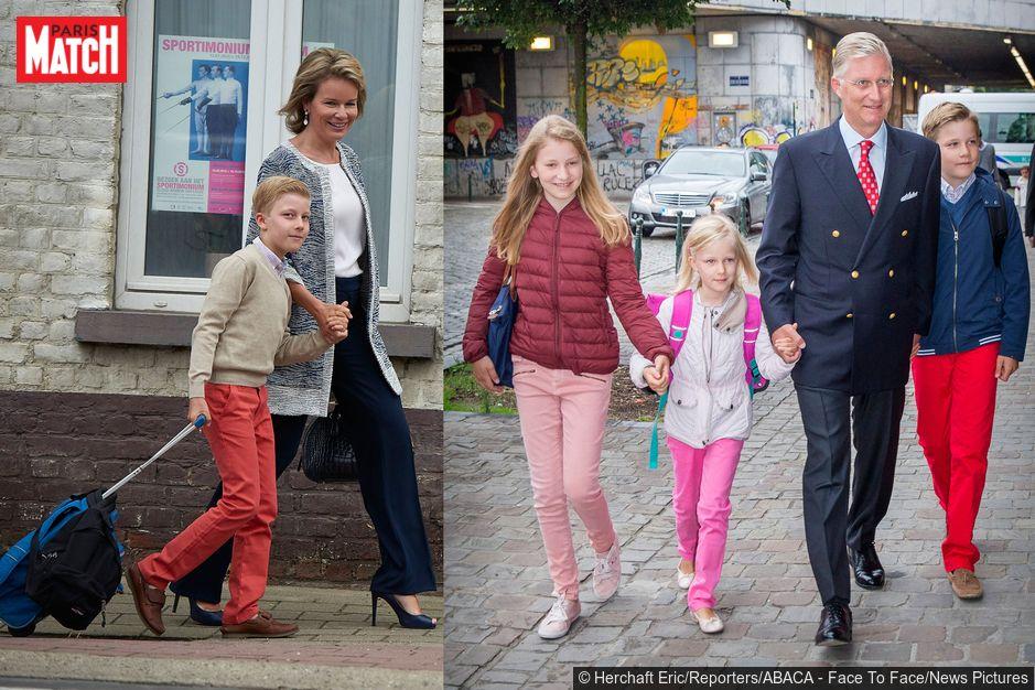 les enfants de mathilde ont retrouv l cole royals reine mathilde mathilde famille royale. Black Bedroom Furniture Sets. Home Design Ideas