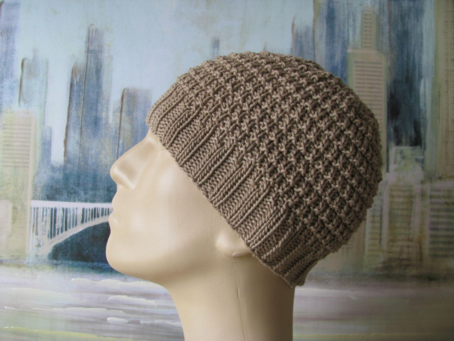 Men\'s Hat Pattern \'Buzz\', Men\'s Knitted Hat Pattern, or Chemo Hat ...