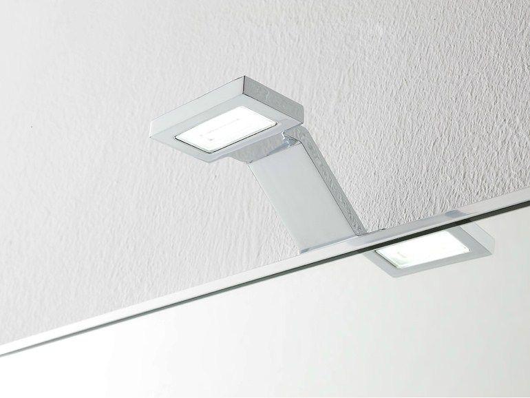 Lampada da parete a led in metallo cromato applique bagno a led