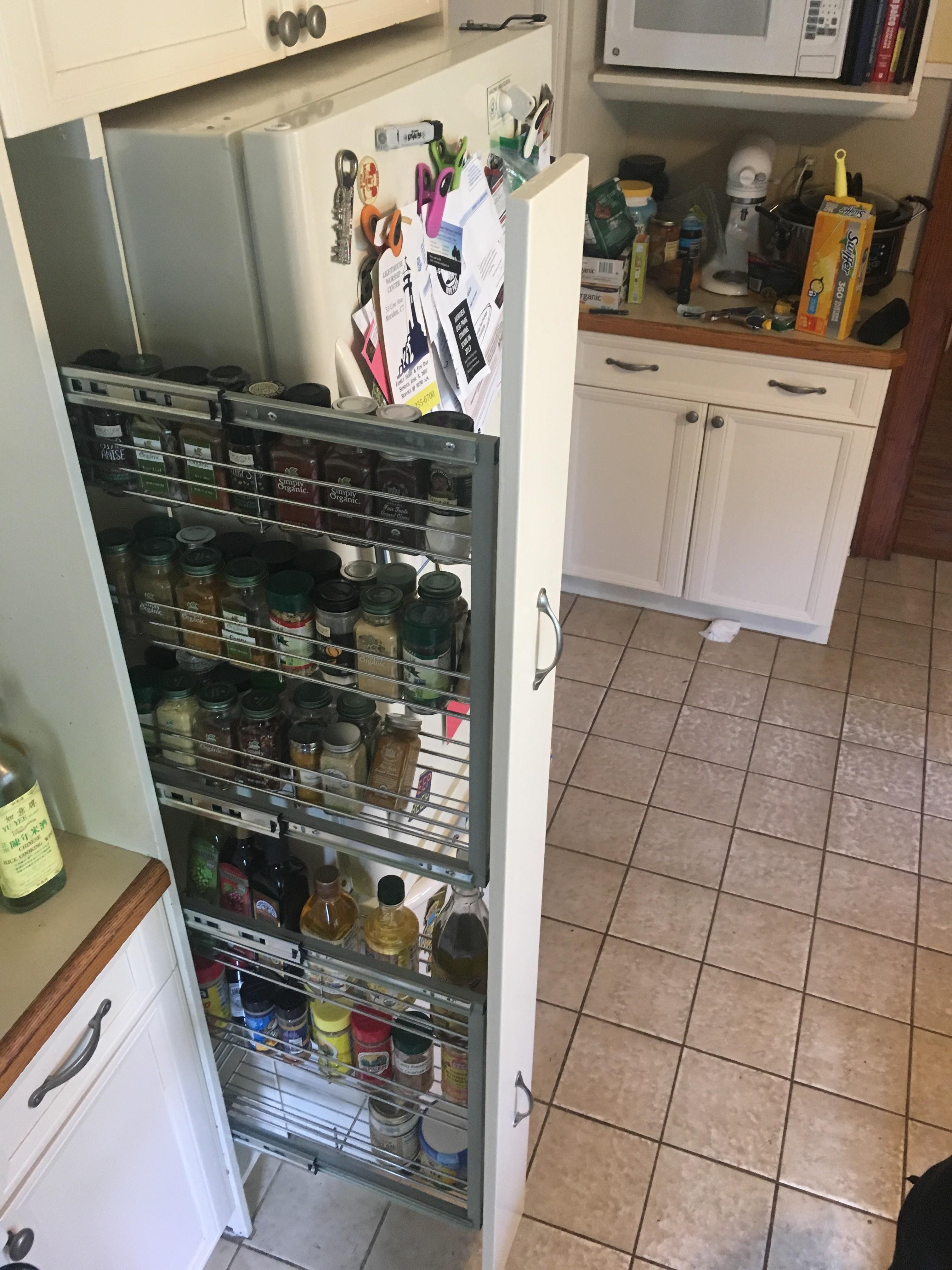 Next To Fridge Spice Rack Cabinet Kitchen Spice Storage Kitchen