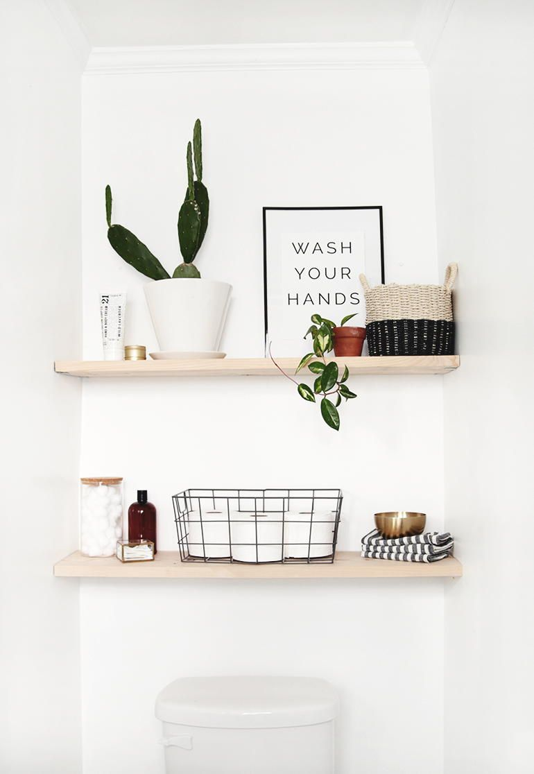Photo of Classic DIY Bathroom Shelves