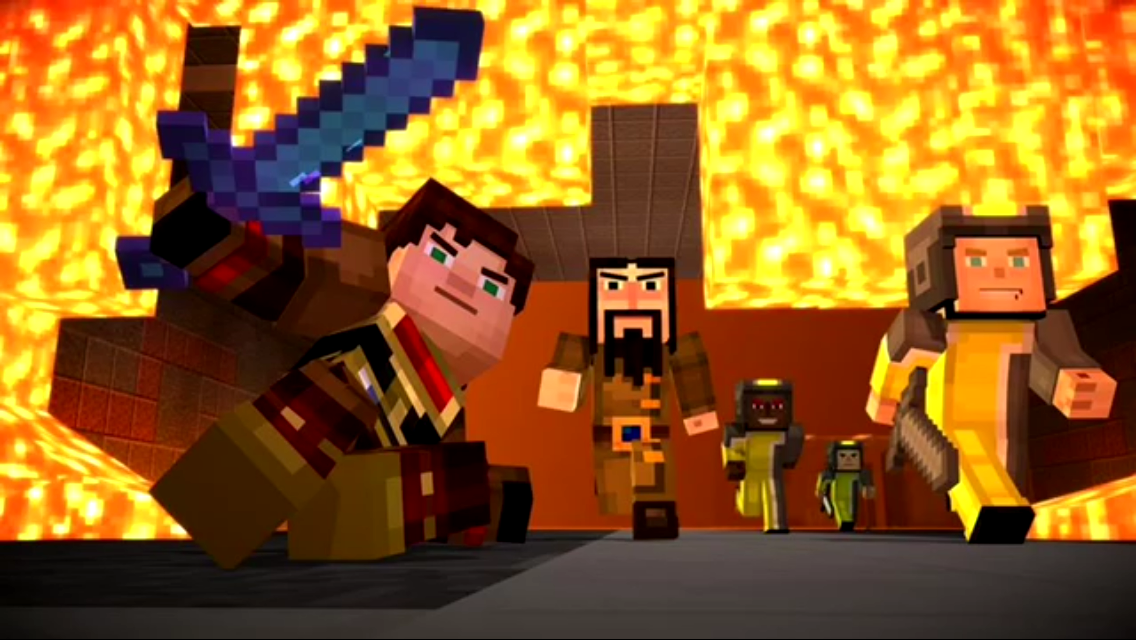 Sneak Peak photos of Minecraft story mode episode 8