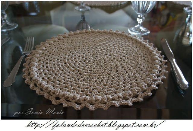 5º Sousplat De Croche Granny Barra Puff Em V Sousplat Croche Sousplat Cozinha De Crochet