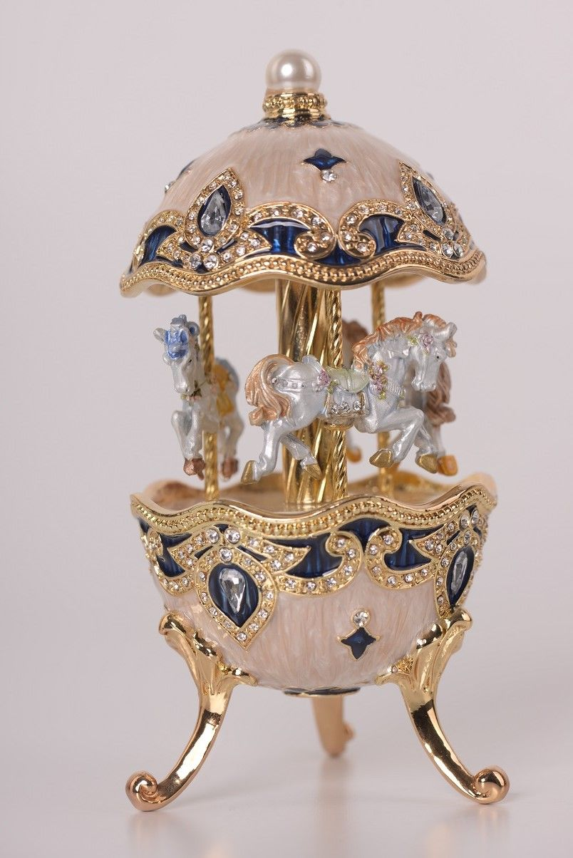 white faberge egg with horse carousel faberge eggs in 2019 rh pinterest com