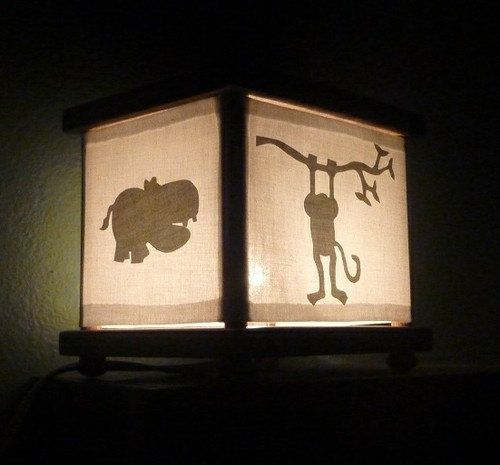 This Is A Jungle Animal Lantern Night Light Lamp It Has A