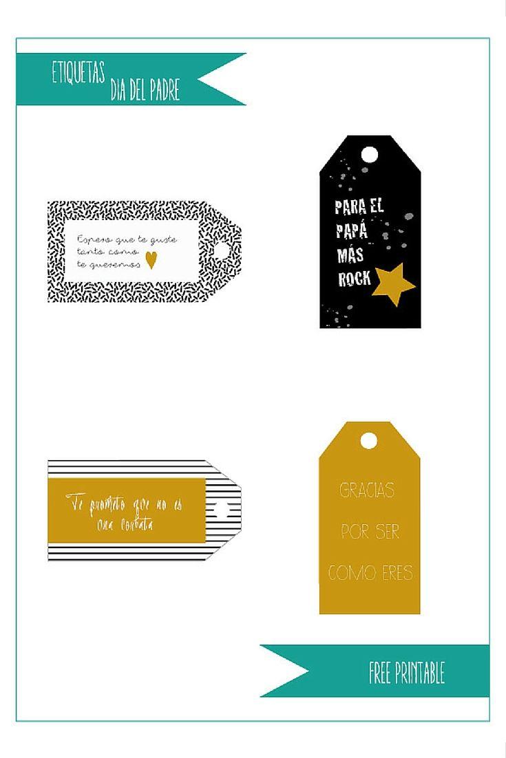 Free printable labels to daddy's gift on the blog. Etiquetas descargables gratuitas para los regalos de papá. En el blog: http://reinobajito.com/etiquetas-regalos-dia-del-padre/