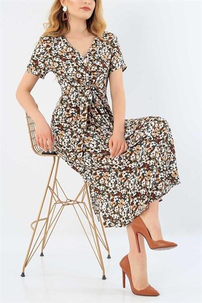 44 95 Tl Cicek Desenli Dokuma Viskon Elbise 30615 Modamizbir 2020 Elbise Elbise Modelleri Giyim