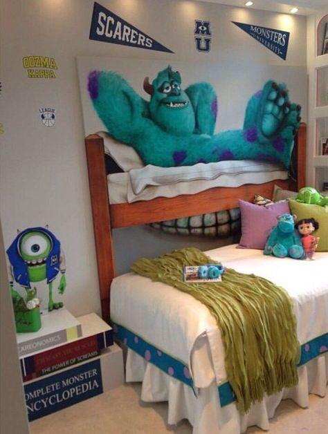 Monsters University Themed Room Monster Bedroom Decor Monsters Inc Room Monster Nursery Decor