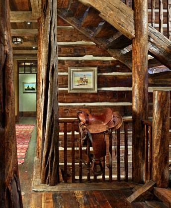 gotta have a saddle in your log house and in your bunkhouse