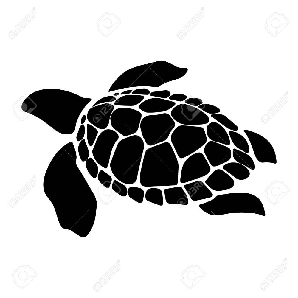 Turtle Marine Animal Illustration Sea Turtle Simple Illustration Of Turtle Marine Animal Vector Ico Animal Illustration Turtle Silhouette Simple Illustration