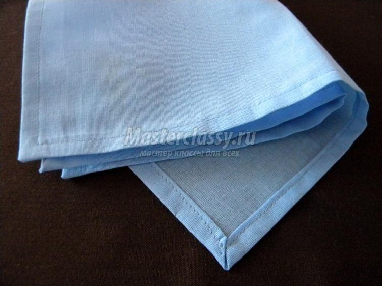 Салфетка из ткани своими руками. Мастер-класс с пошаговыми ...