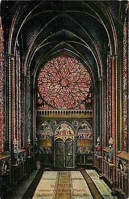 Paris France 1907 Interior Sainte Chapelle Holy Chapel Antique Vintage Postcard Circa 1905
