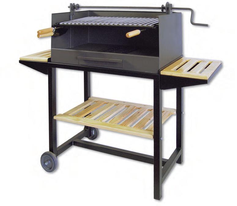 Barbecue, support à manivelle, barbecue charbon de bois